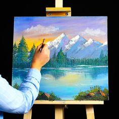 Canvas Painting Tutorials, Acrylic Painting Canvas, Painting Tools, Acrylic Art, Painting Art, Painting Videos, Painting Lessons, Fire Painting, Easy Canvas Art