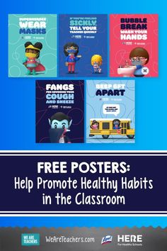 These posters, stickers, and lesson plans can help you teach hygiene and promote healthy habits in the classroom. #classroom #printables #teaching #lessonplan #classroommanagement Organization And Management, Classroom Organization, Classroom Management, Middle School Teachers, Elementary Teacher, Healthy Schools, High Touch, Future Classroom, After School