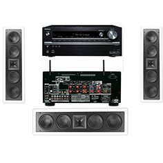 Klipsch KL6504THX InWall LCR Speaker3Each Onkyo TXNR838 72 Channel Network White -- You can find more details by visiting the image link-affiliate link. #HomeAudioSpeakersSurroundSoundSystems