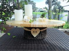 20 Rustic wedding cake stand  Personalized by ArtisticByNature1