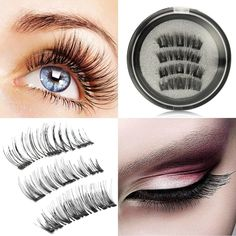 3031b0699fa High Quality 6Pcs 3D Magnetic False Eyelashes Natural Thick Eye Lashes  Extension Eyes Makeup With Mirror