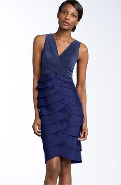 My Mother of the Bride dress: Adrianna Papell Jersey & Taffeta Sheath Dress available at Nordstrom Dress P, Sheath Dress, Fancy Dress, Prom Dress 2013, Mob Dresses, Bride Dresses, Party Dresses, Wedding Dresses, Dresses 2013