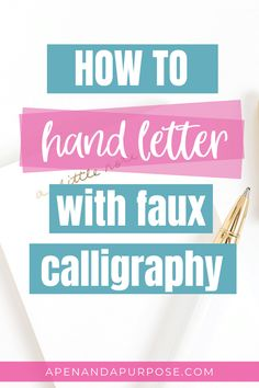 Learn the easy way to letter using faux calligraphy. If you want to use pretty hand lettering in your journal, this is a simple way to start. Faux calligraphy helps you learn how to form letters.