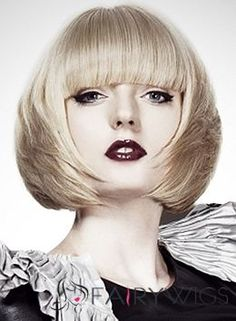 Impressive Short Blonde Female Straight Vogue Wigs 12 Inch 80s Haircuts, Stylish Haircuts, Bob Hairstyles, Short Human Hair Wigs, Short Blonde, Blonde Hair, Bad Hair, Hair Today, Textured Hair