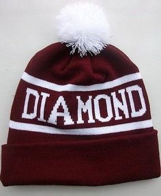Men Boy Girl Hip-Hop cap Diamond Beanie Pom Winter knit Cotton knitting PURPLE