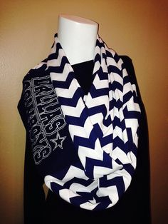 Dallas Cowboys Infinity Scarf on Etsy, $25.00