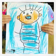 No, David! Directed Drawing (First Grade Blue Skies) No David, David Shannon, Directed Drawing, Drawing Activities, Arts Integration, Beginning Of The School Year, First Grade, Blues, Blue Skies