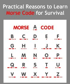 Practical Reasons to Learn Morse Code | Backdoor Survival