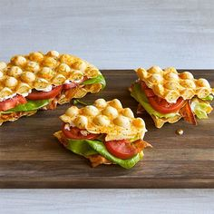 Cheddar+&+Chive+Bubble+Waffle+BLT+-+The+Pampered+Chef®