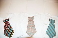 Free pattern for tie and guitar applique onesies.