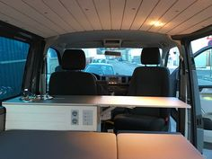 Bullifaktur Wohnmobil Camper Campervan Individualausbau VW T5 T6 Transporter Multivan Caravelle T5 Camper, Vw T5, Campervan Interior, Lighting, Outdoor, Ideas, Small Campers, Caravan Van, Outdoors