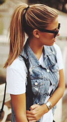 Rag & Bone Vintage Denim Vest.  They're back. You can style theses over everything. Try old navy for a less expensive version