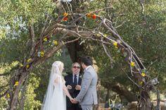 RUstic arbor...Handmade Wedding at Parker Ranch: Lauren + Daniel