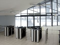 "TTD-03.1 box tripod turnstiles and BH-02 railings, ""Teorema"", St. Petersburg, Russia"