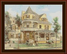 Victorian House - Counted Cross Stitch