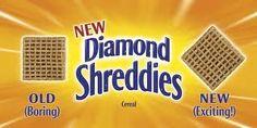 Diamond Shreddies, Old v New.