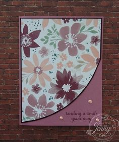 Stampin' Up!'s Love & Affection stamp set and Blooms & Bliss DSP. Free tutorial at www.craftingwithjenny.com.