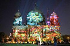 Fête des lumières in Lyon. The four day long light show