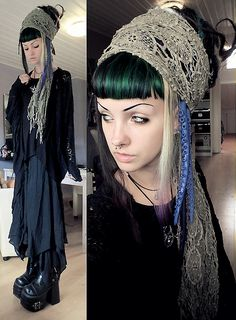 psychara:  Today's outfit :3Dark mori alien pirate withHysteria Machinetentacles!