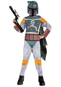 Disfraz niño Boba Fett. Star Wars Deja que el niño se sienta como el mejor de los caza recompensas de la galaxia con este disfraz de Boba Fett.
