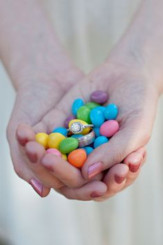 Easter Engagment/Wedding ring Photo Idea!