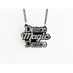 The Labyrinth Dance Magic Dance necklace ❤ liked on Polyvore featuring jewelry, necklaces, 80s jewelry, glitter jewelry, mirrored jewelry, curb link chain necklace and 80's fashion jewelry