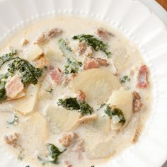 Zuppa Toscana Soup {Olive Garden Copycat} and I will use mild sausage....love it....but Olive Gardens is too spicy for me.