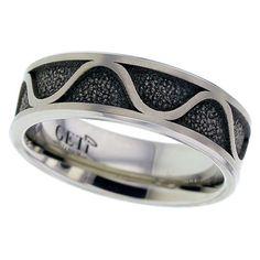Wave Design Flat Profile Titanium Ring by GETi - My Personal Jewellery - The Design Station Ltd