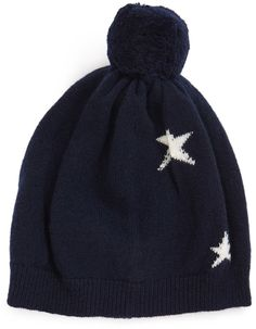 Because it really is never too soon to start crafting your wish list, we just dreamed up one major gift guide. Cute Beanies, Bobble Hats, Holiday Wishes, Gift Guide, Wool, Navy, Stars, Gifts, Fashion