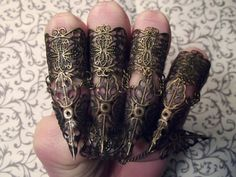 Bronze Elven Claw Armor // Set of 5 by JekyllHydeJewelry on Etsy