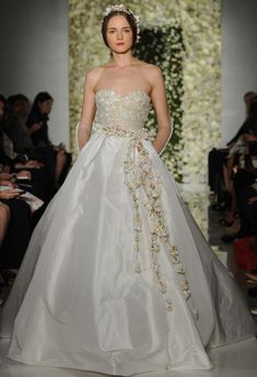 873845a0cd0 Reem Acra Featured Sheer Crop Top Wedding Dresses and Full Embroidered  Skirts for Fall 2015