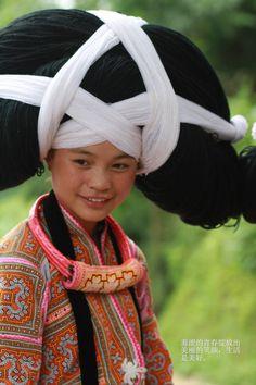 coiffure traditionnelle asiatique : ethnie Miao
