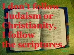 Follow The Scriptures The Hebrew word Torah means Law it is commonly known as the first five books of the bible.Study these books if you will .Christ commanded it not do away understand this.