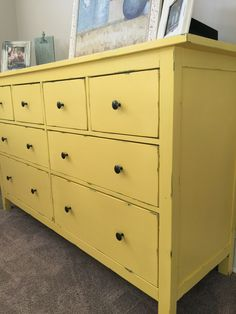 Rustoleum Chalk Paint. Refurbished IKEA Hemnes dresser.