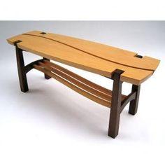Custom Douglas Fir And Walnut Bench by Dogwood Design | CustomMade.com