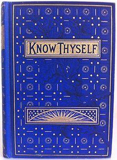 Know Thyself, book, reading, interna