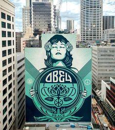Sydney, Australia, piece by Obey Giant.