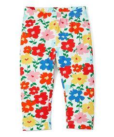 cb2bbe046f405b Loving this Hanna White Floral Capri Leggings - Toddler & Girls on  #zulily!