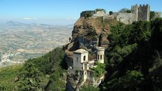 The Norman Castle of Erice, Sicily, Italy, sits where the ancient temple shrine of Venus once stood, which is why it is often called Venus Castle. Viking descendants, the Normans, took Sicily and built Erice Castle in the 12th century.