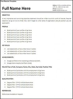 50 Free Microsoft Word Resume Templates For Download Resume