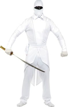 Adult White Ninja Costume - Classic Costumes - Mens Costumes - Halloween Costumes - Categories - Party City