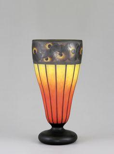 """** Verreries Charles Schneider, Epinay-sur-Seine, Glass Vase, 1922-1925. Signed """"Schneider""""."""
