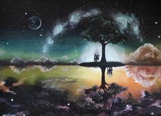 """386 kedvelés, 1 hozzászólás – Horváth Kincső Art (@horvathkincso_art) Instagram-hozzászólása: """"A végeredmény önmagában... (akril, vászon) 🖤"""" Northern Lights, Nature, Painting, Art, Instagram, Art Background, Naturaleza, Painting Art, Kunst"""