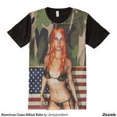 American Camo Bikini Babe All-Over Print Shirt