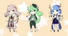 Adoptable Star Seekers 1-3 : AUCTION CLOSED by s-p-ri-ng.deviantart.com on @DeviantArt