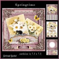 Springtime Cardtopper with matching Inlet 877 on Craftsuprint - View Now!
