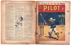 """The oldest """"comic"""" in my collection… The Pilot was a British adventure paper for boys that ran from 1935 to 1938, 131 issues in total. Published by The Amalgamated Press, this is issue 22, volume 1, dated February 29th 1936 - so it was probably on sale sometime during the preceding week."""