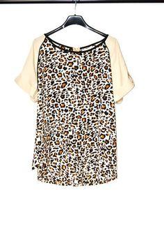 Kup mój przedmiot na #vintedpl http://www.vinted.pl/damska-odziez/koszulki-z-krotkim-rekawem-t-shirty/13524874-bluzka-panterka-stradivarius-l-nowe