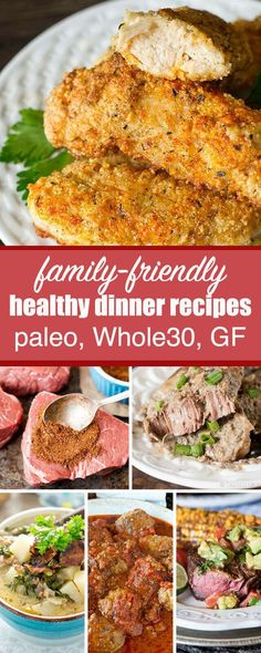 Don't get stuck in a rut! Try some of our best Whole30 dinner recipes to keep your family smiling while you are eating healthy. Paleo / Clean Eating Recipes / healthy recipes / gluten free / grain free / sugar free