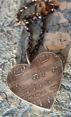 Customized Silver Sheet Music Necklace with by flirtandflutter, $187.00